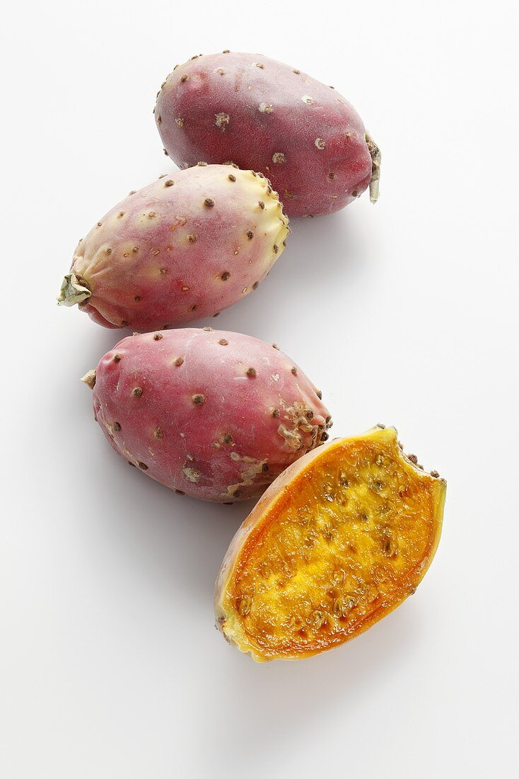 Cactus figs, whole and halved
