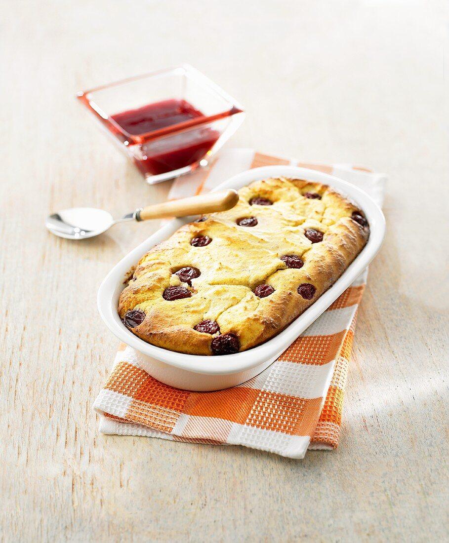 Cherry quark bake