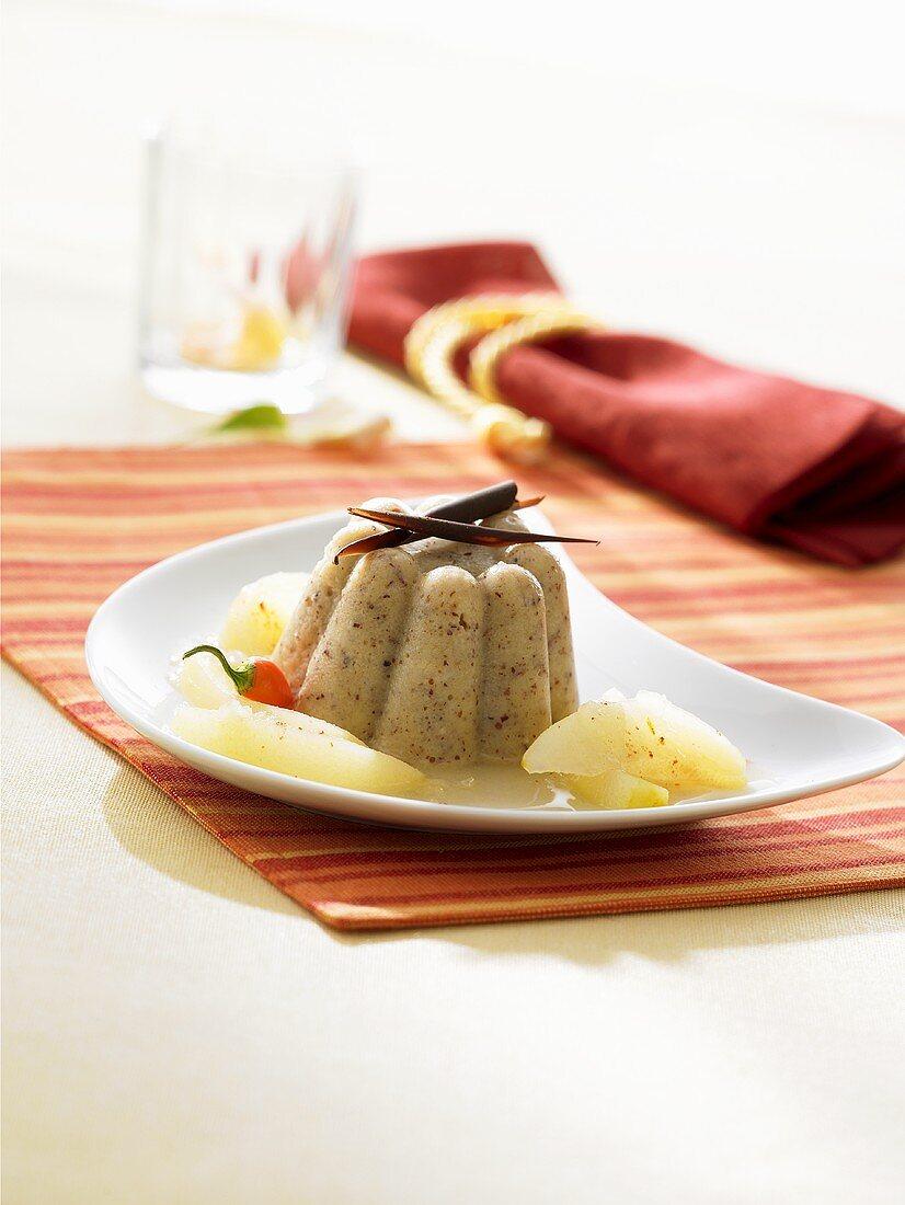 Almond-semolina pudding