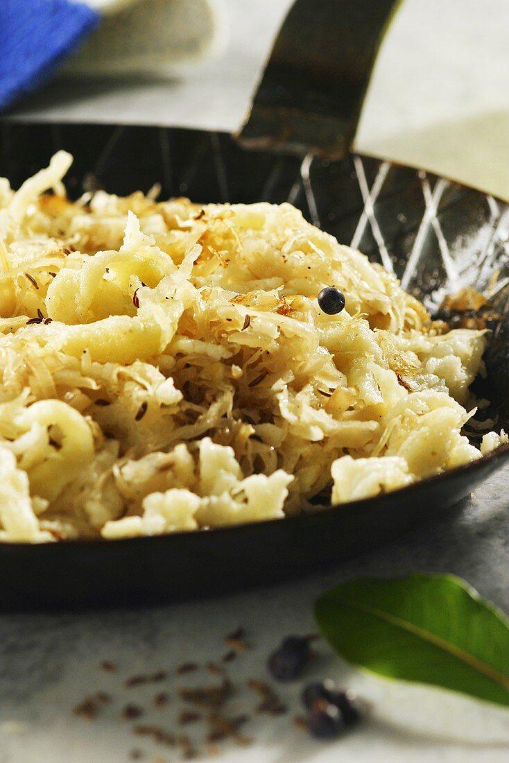 Swabian herb spätzle (soft egg noodles)