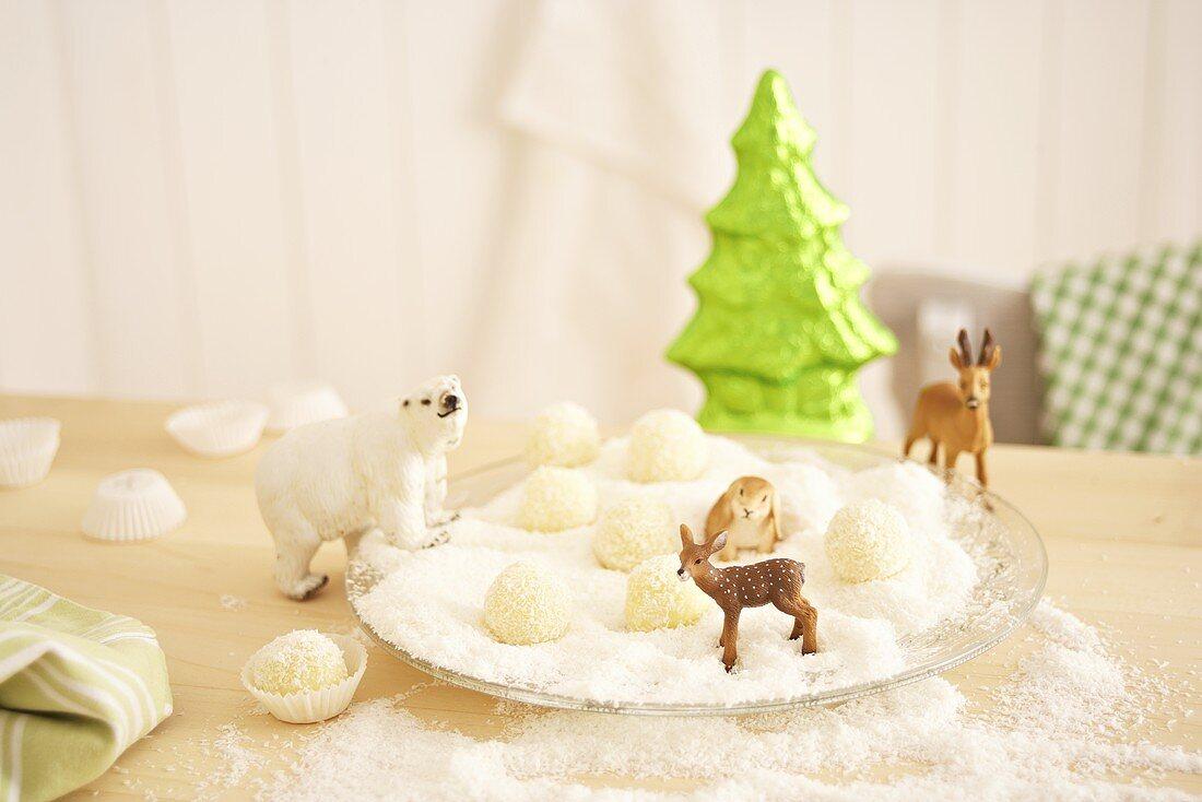 Christmas coconut confectionary