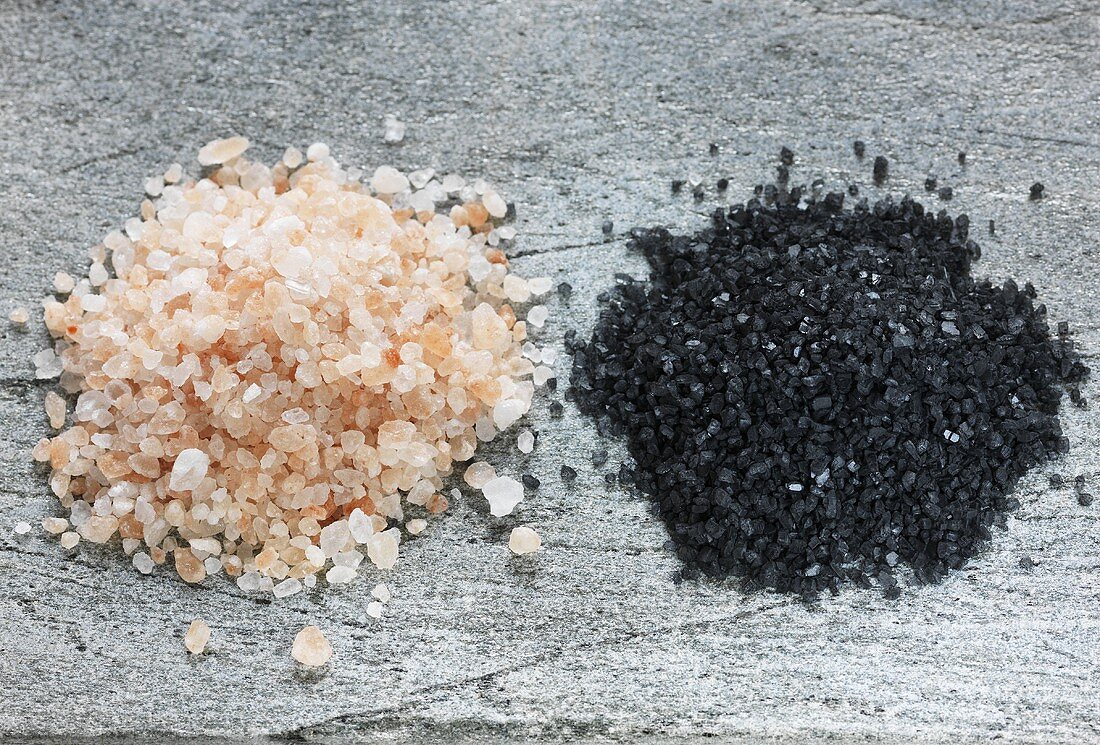 Himalaya salt and Hawaii salt