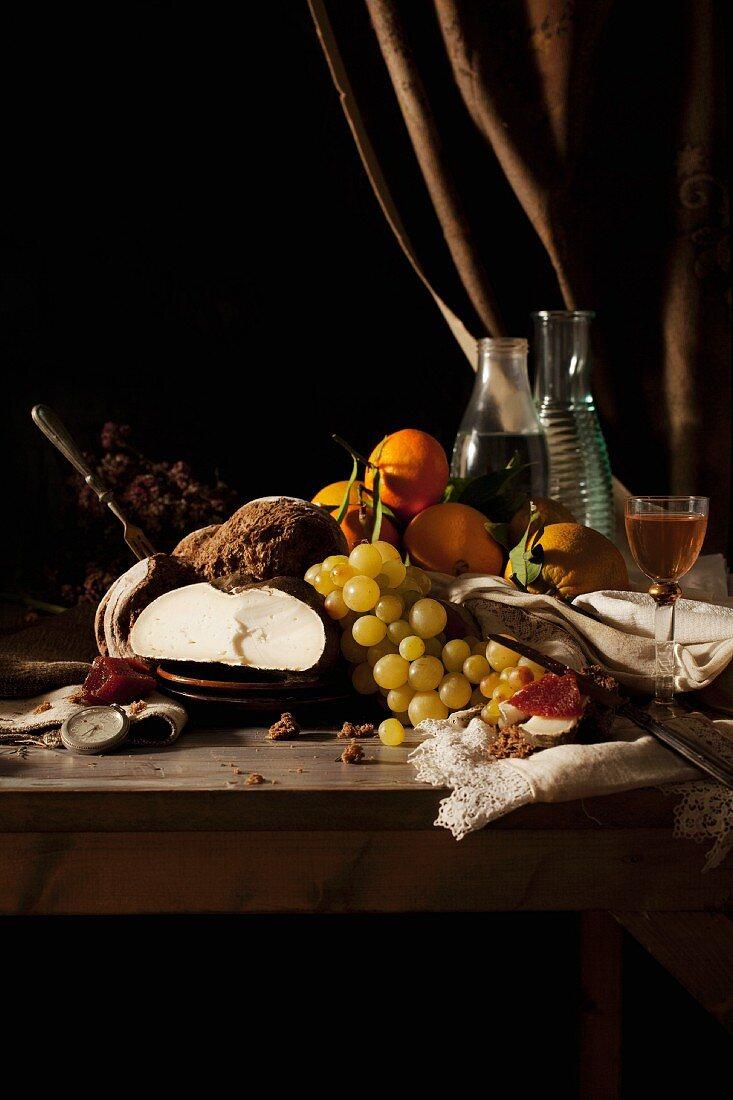 An Old Master-style autumnal arrangement