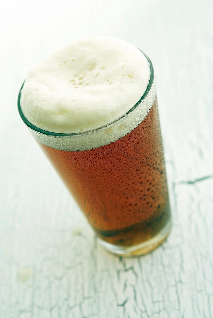 A glass of draught lager