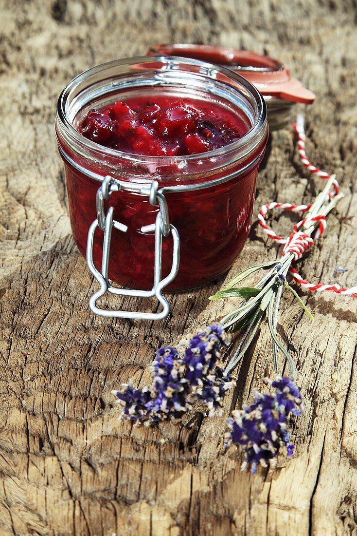 Gooseberry chutney with lavender