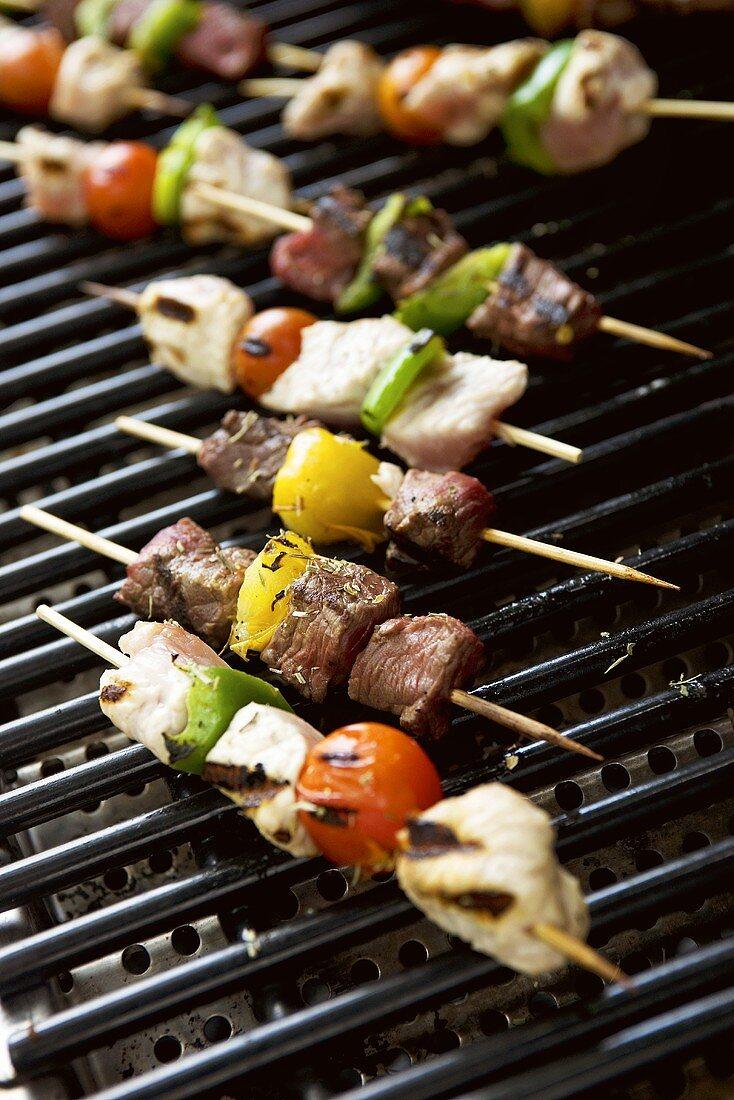 Shashlik on barbecue