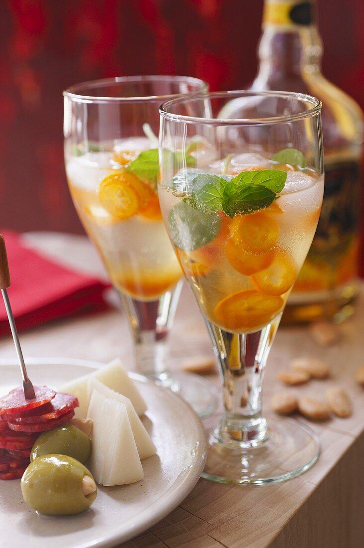 Angelo Tonic with orange liqueur and kumquats