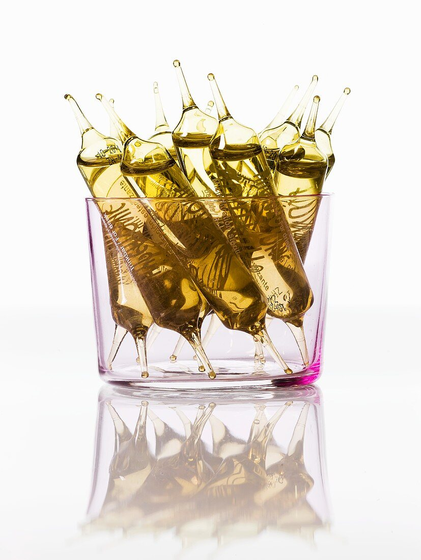 Ampoules in a glass