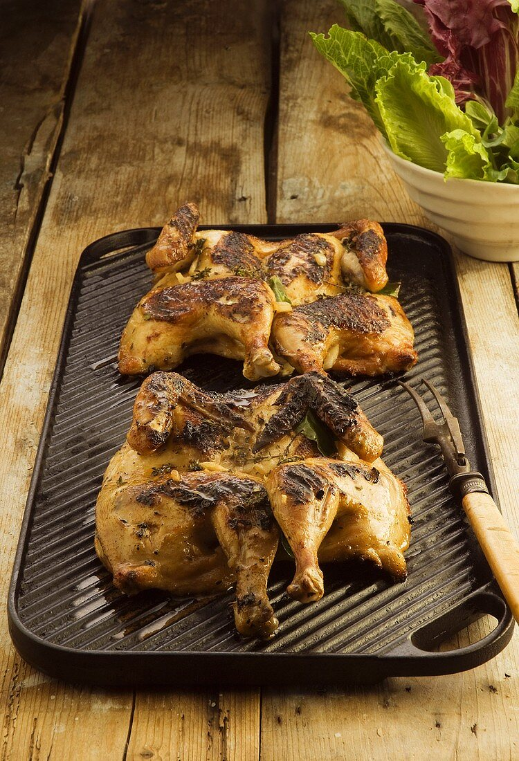Roast chicken with beer marinade