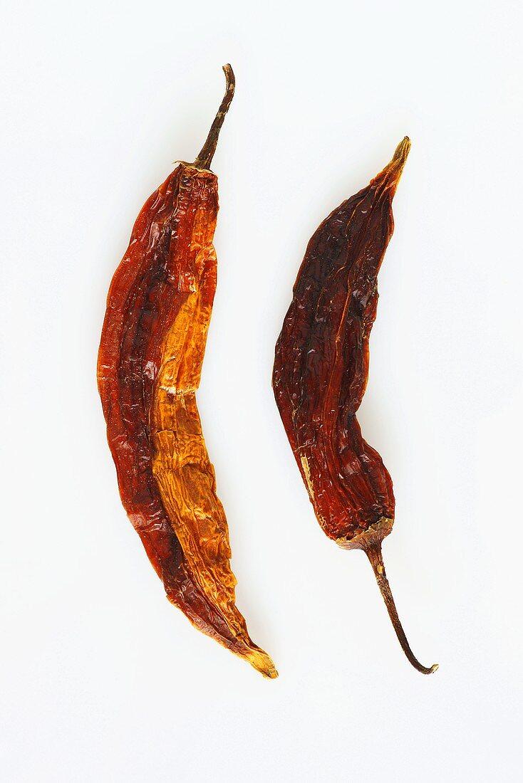 Dried Peruvian chillies (Aji)