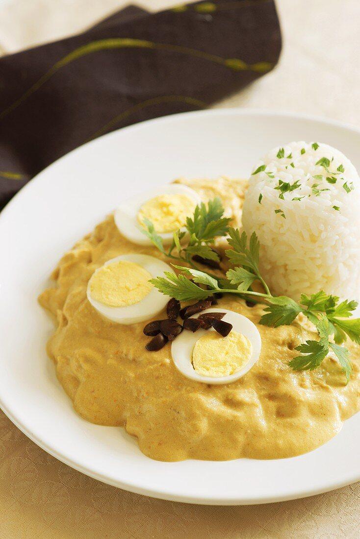 Aji de gallina (Peruvian chilli chicken)