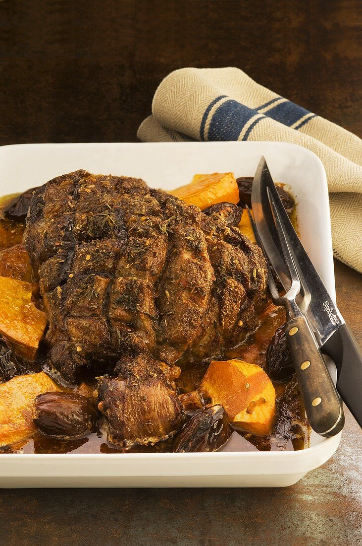 Moroccan roast lamb
