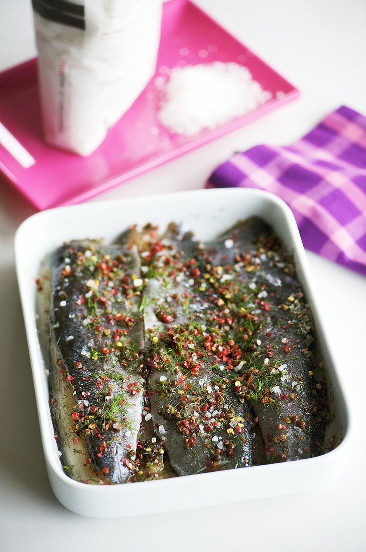 Trout in whisky marinade