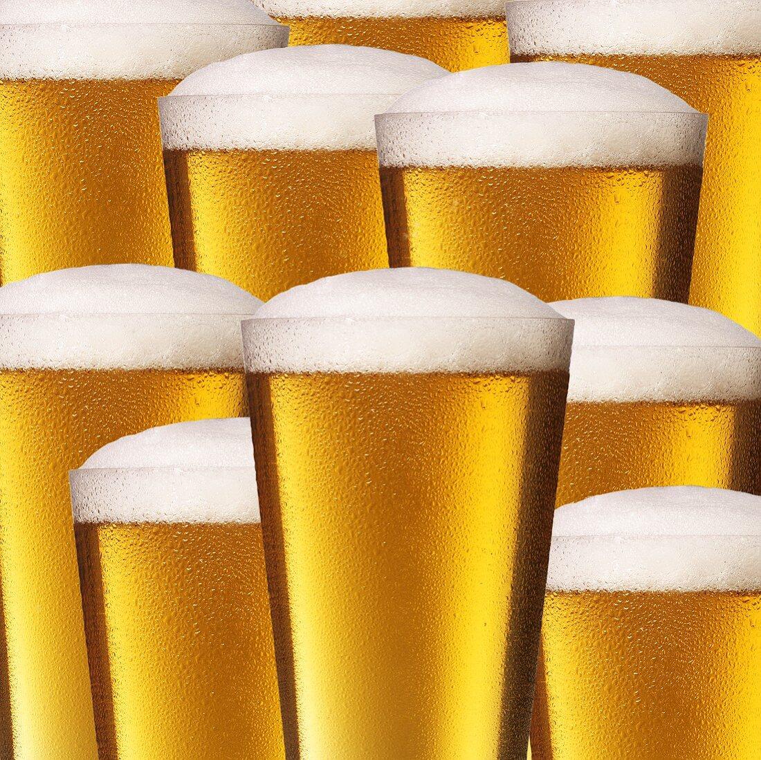 Ten glasses of beer