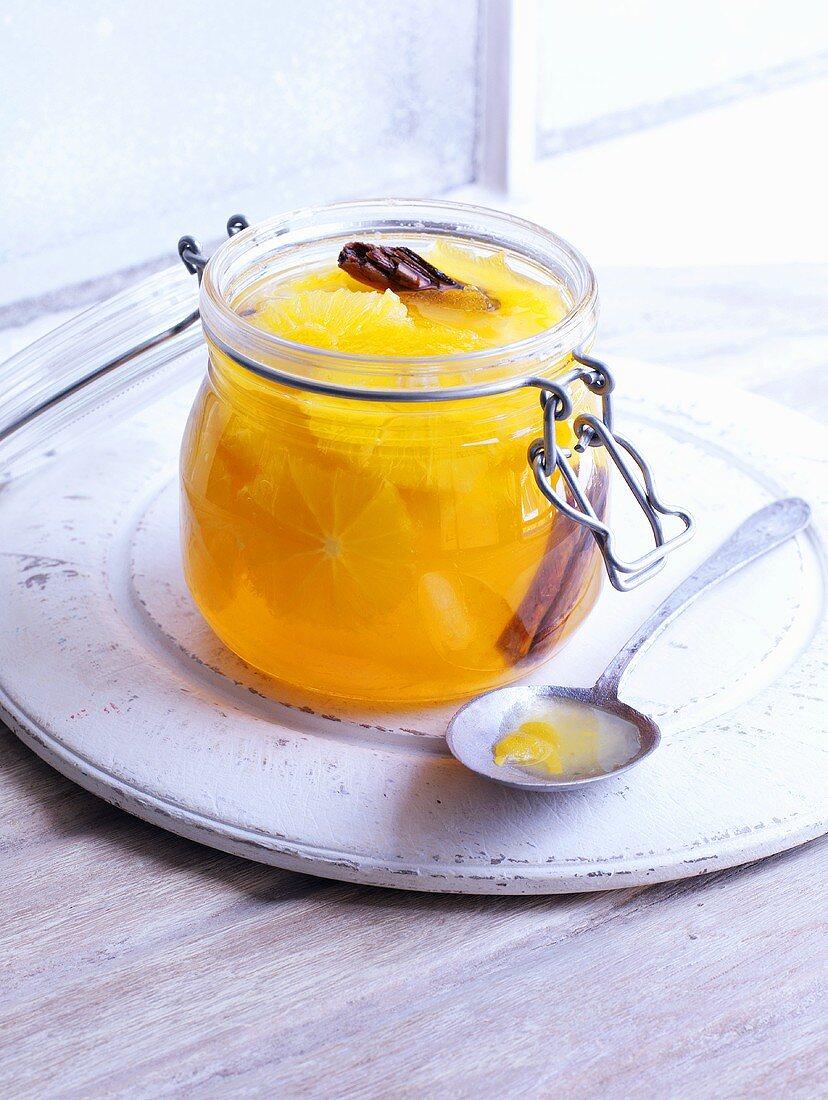Orange compote with cinnamon