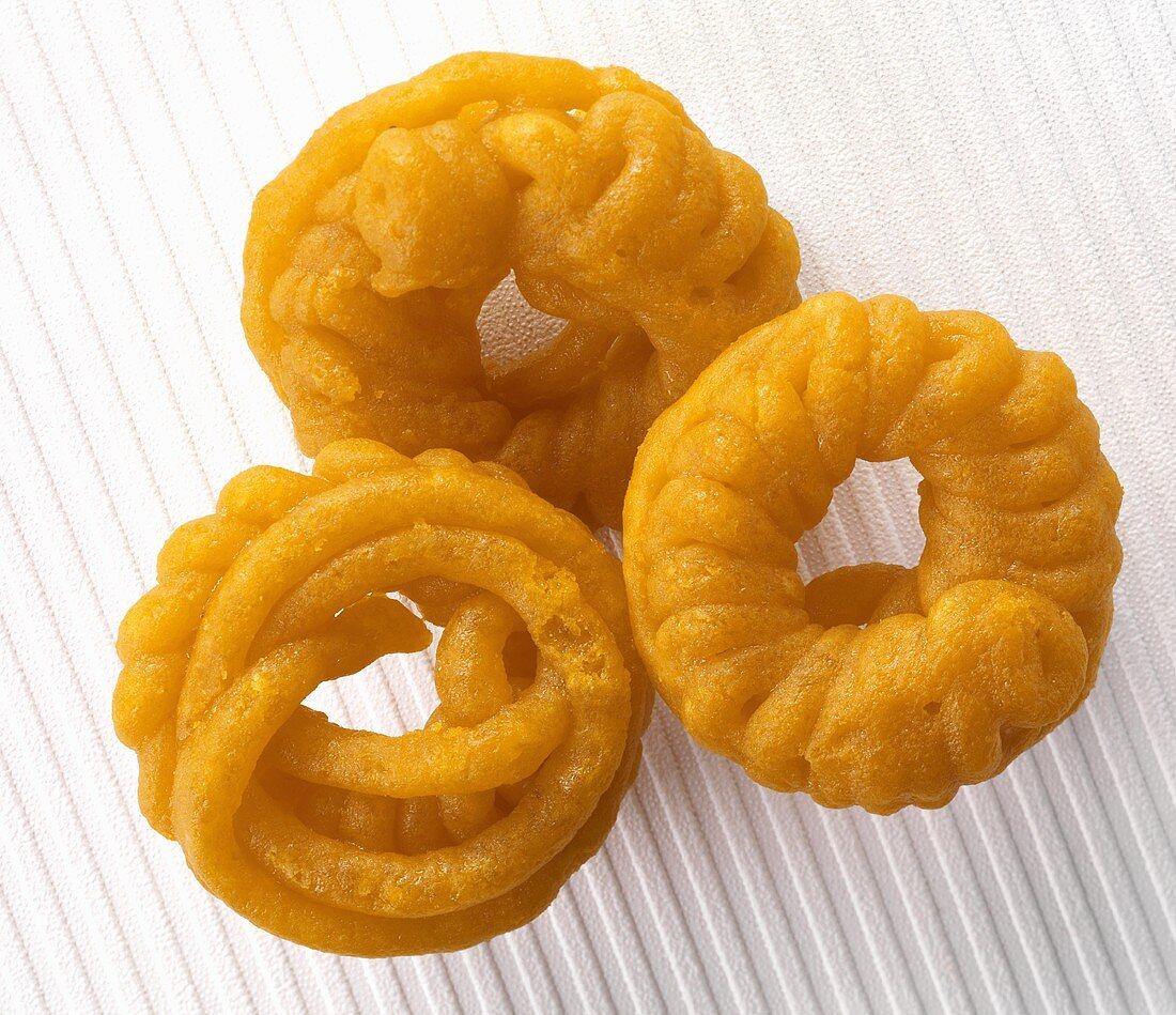 Jalebis (Sweet deep-fried batter spirals, India)