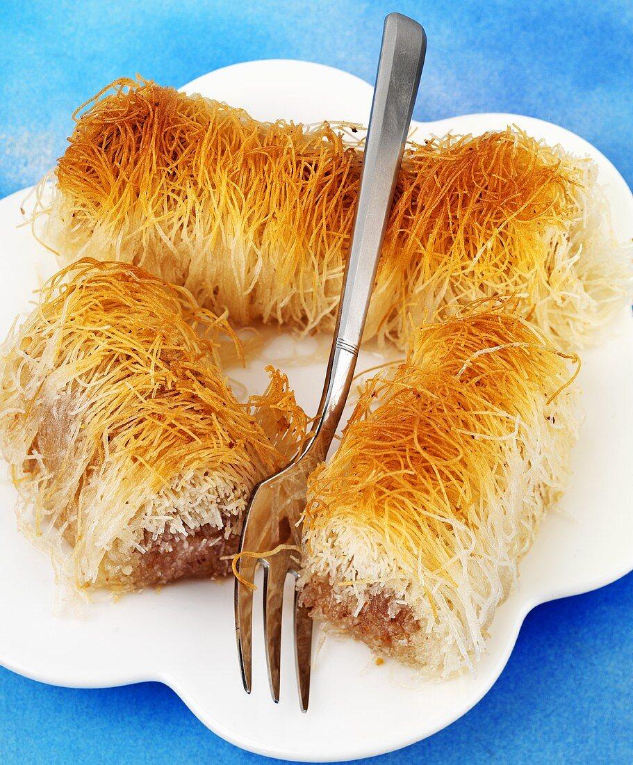 Greek angel's hair pastries