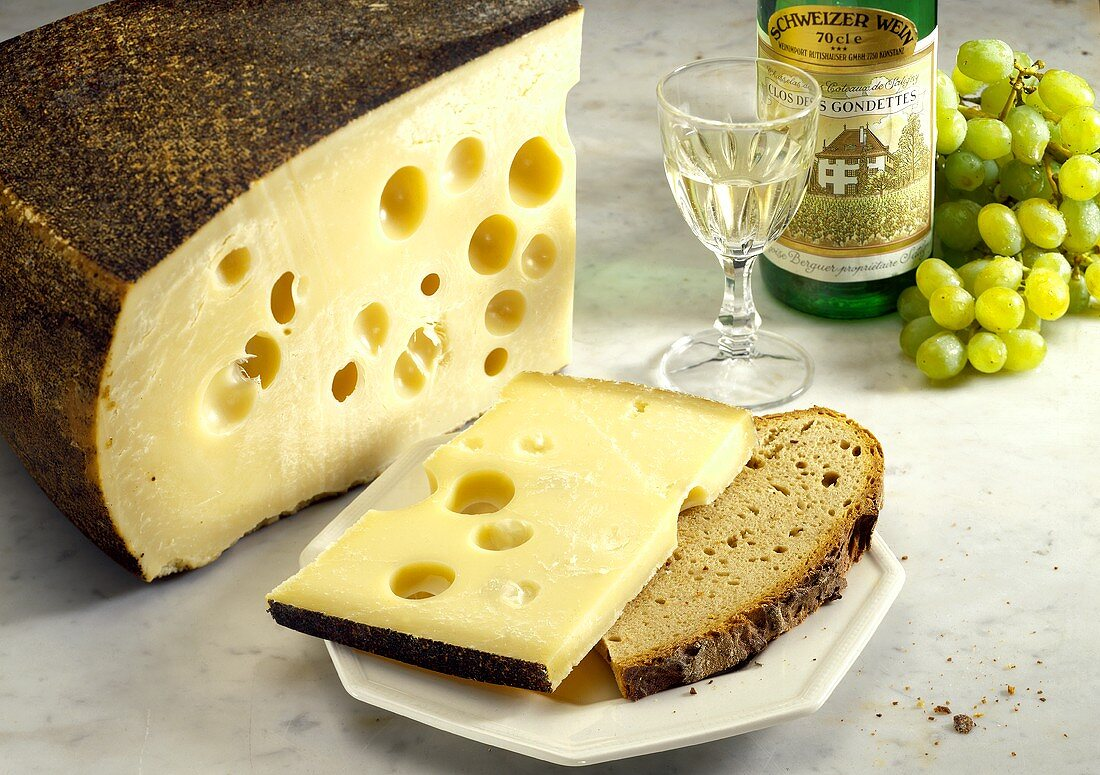 Allgau Emmental cheese with holes