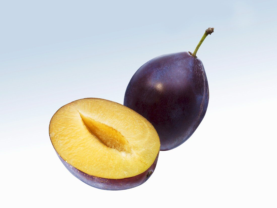 One whole plum and half a plum