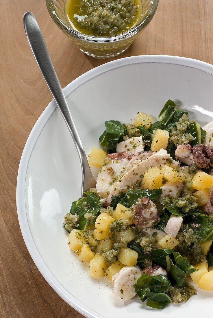 Insalata di patate e polpo (Potato salad with octopus)