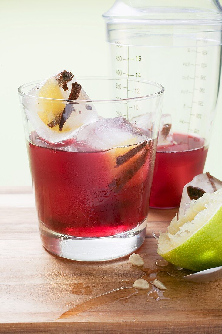 Cinny-Mini-Crush (Non-alcoholic drink made with juices & cinnamon)