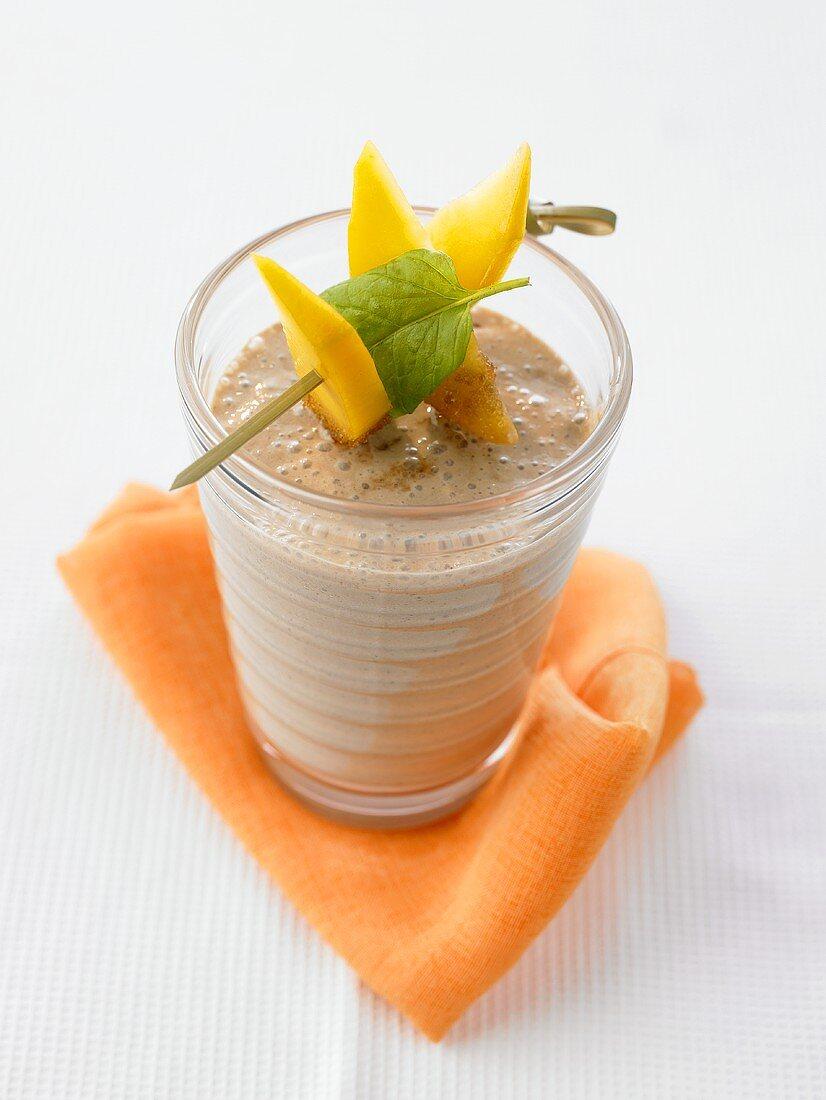 Acai berry and mango smoothie