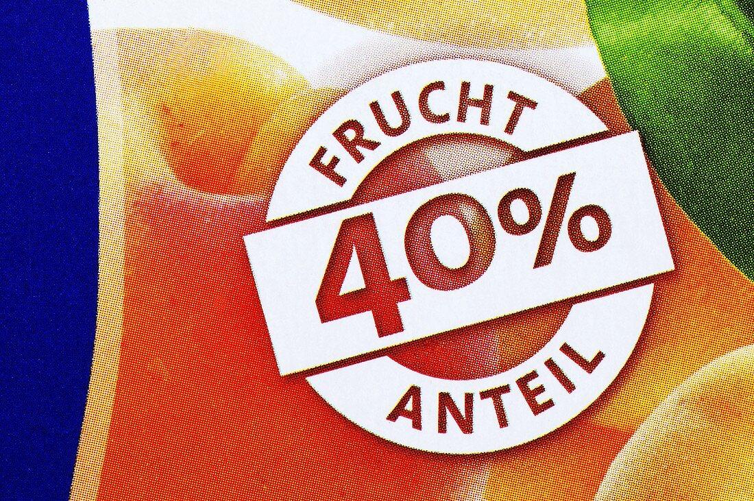 Fruit nectar label