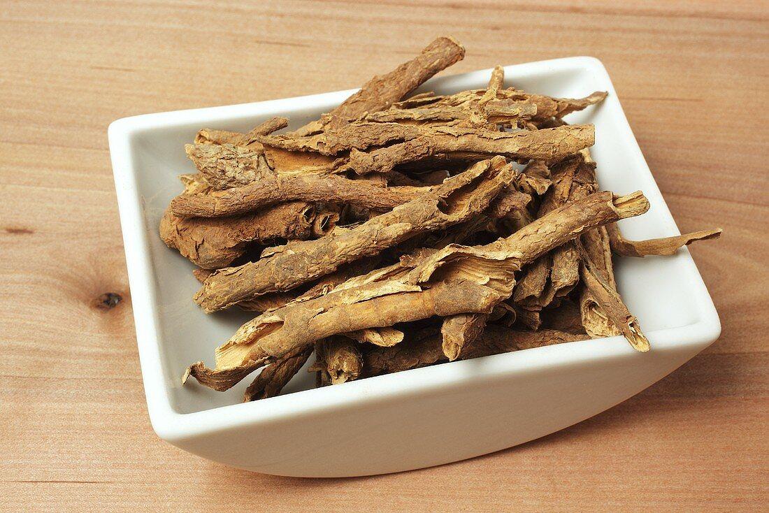Dried Siberian ginseng bark