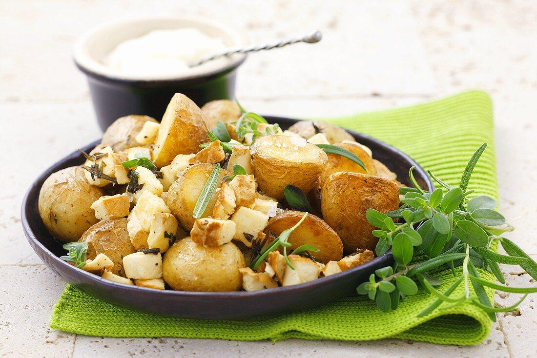 Potatoes with Oscypki (mountain sheep's cheese, Poland)