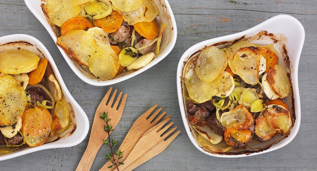 Baeckeoffe (Meat and potato stew, Alsace)