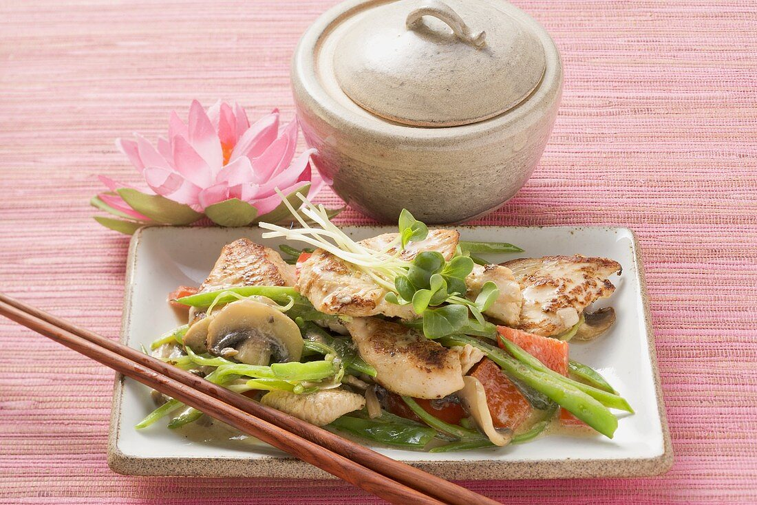 Asian-style turkey with vegetables