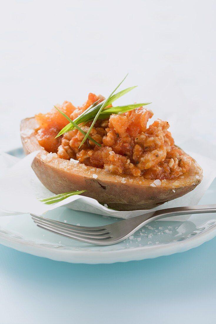 Ofenkartoffel mit Hühnchenbrust