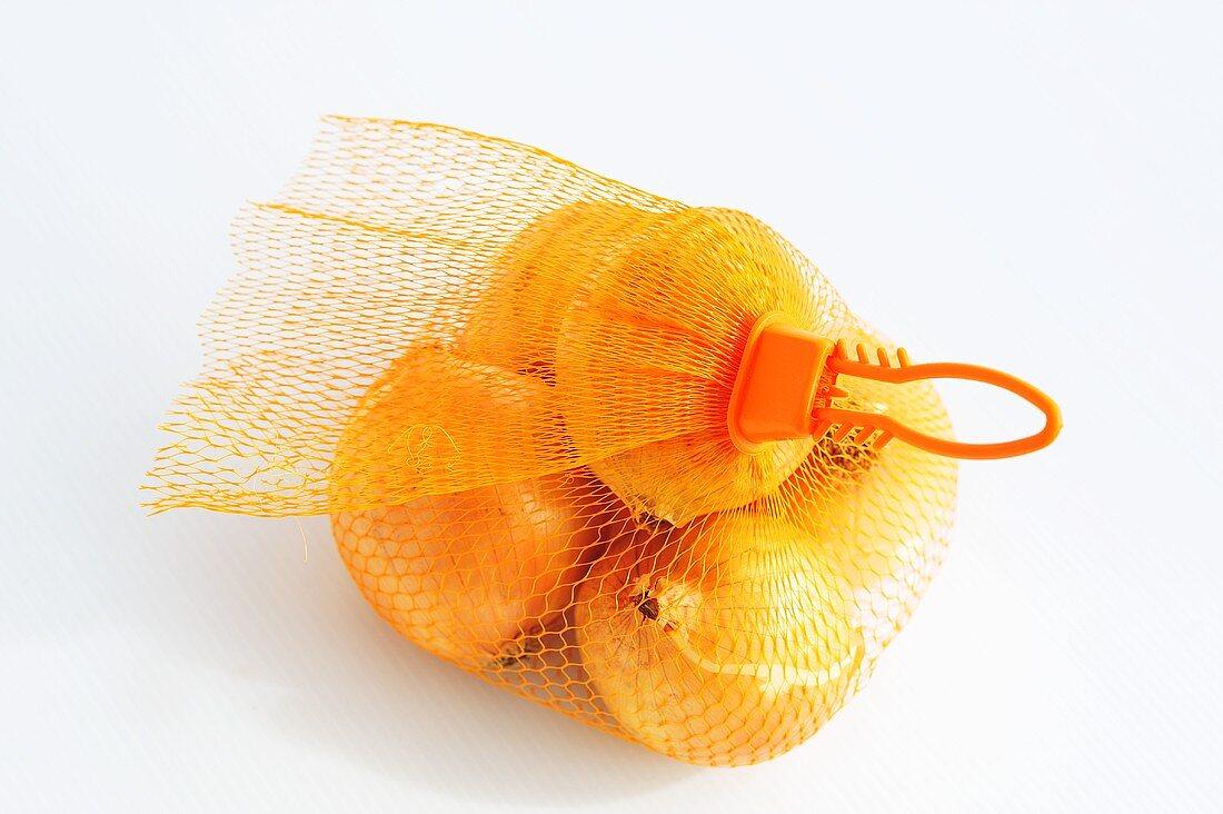 Onions in a net bag