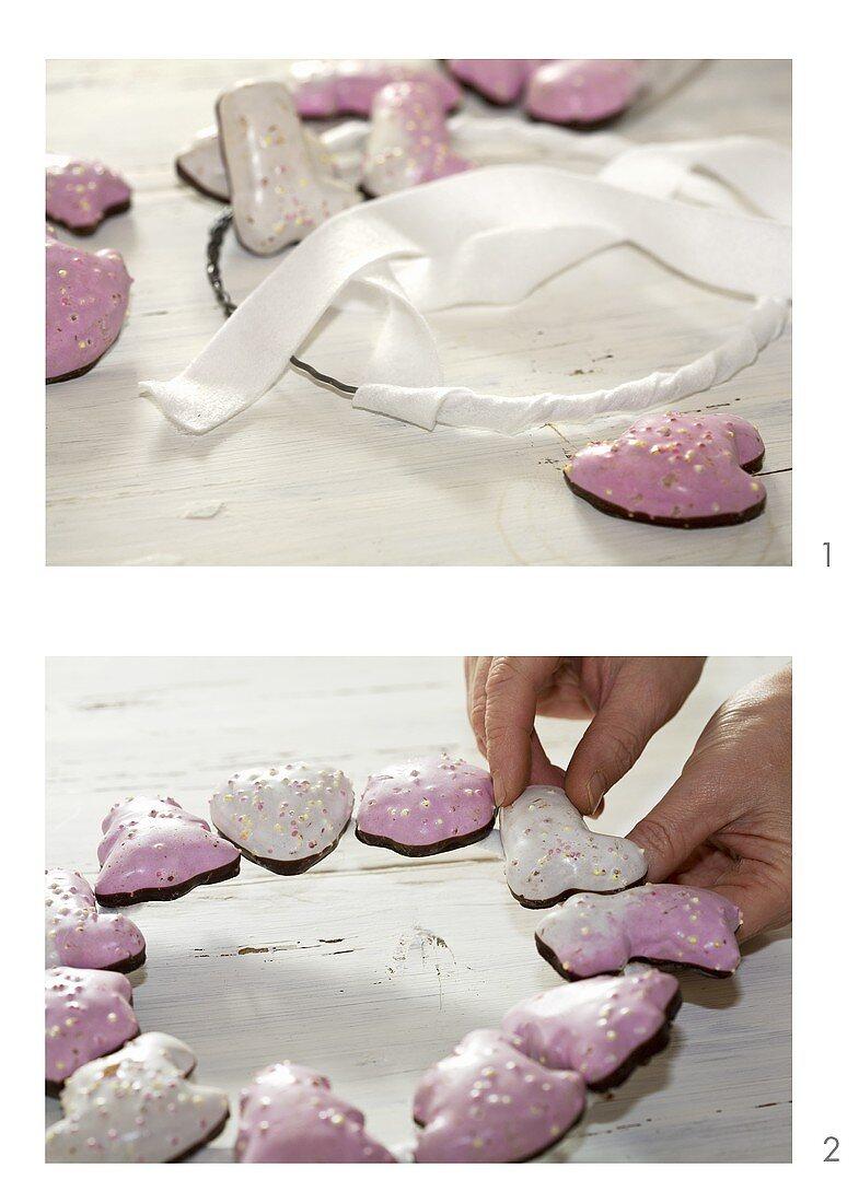 Making a Lebkuchen wreath