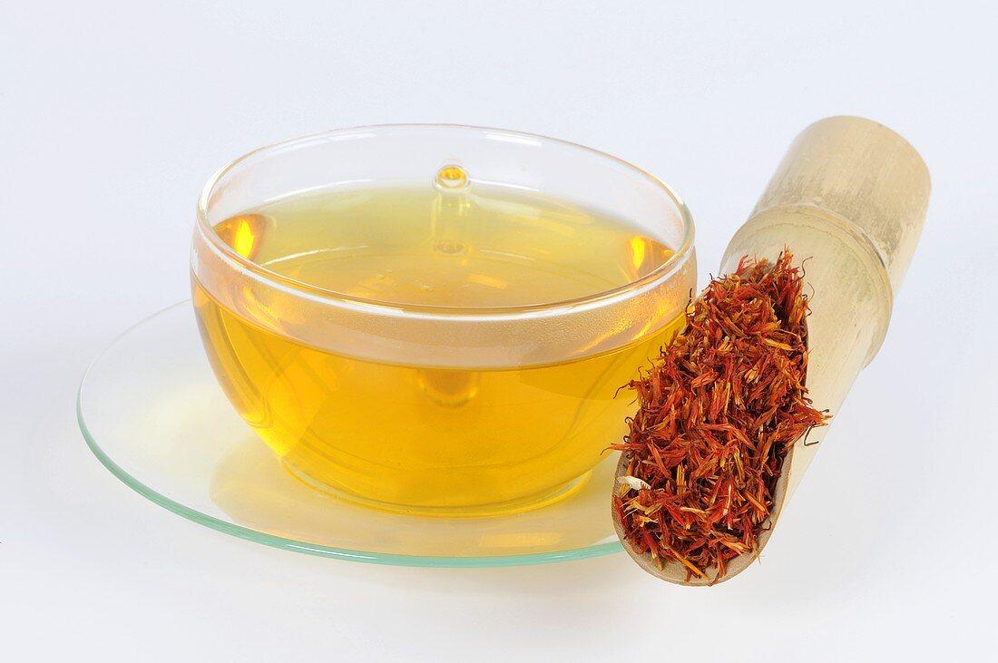 Safflower tea