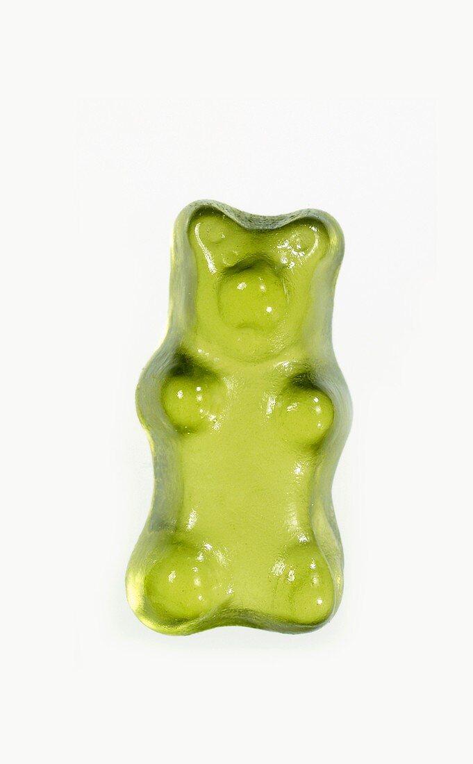A green Gummi bear