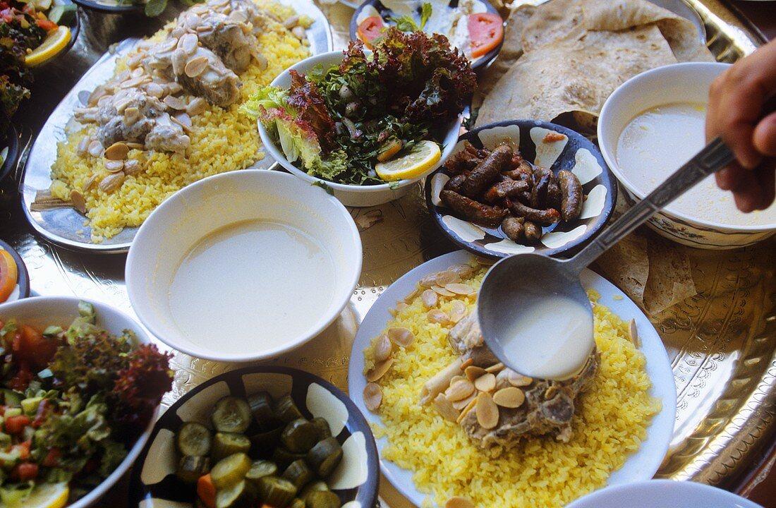 Mezze board (Jordanian appetisers)