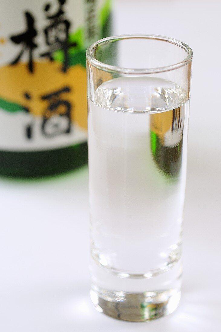 A glass of sake