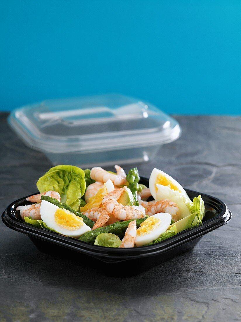 Prawn, asparagus and egg salad to take away