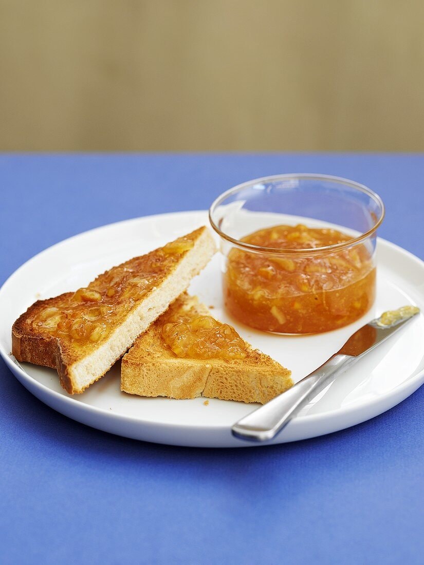 Toast with marmelade