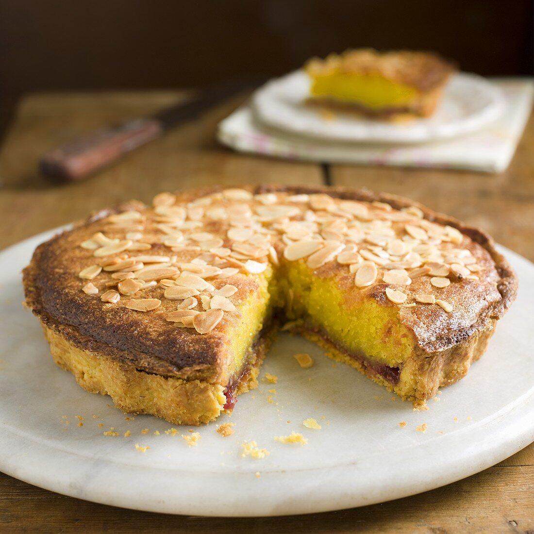 Sliced Bakewell Tart