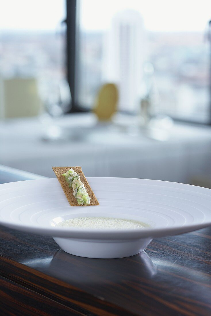 Oyster veloute soup