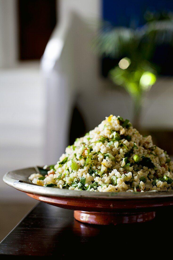 Tabbouleh (bulgur wheat salad with parsley)