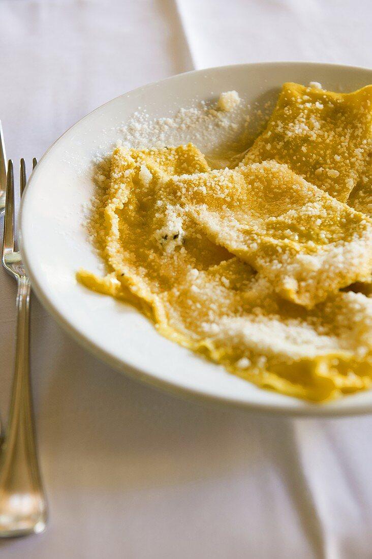 Anolini di zucca (ravioli filled with pumpkin, Italy)