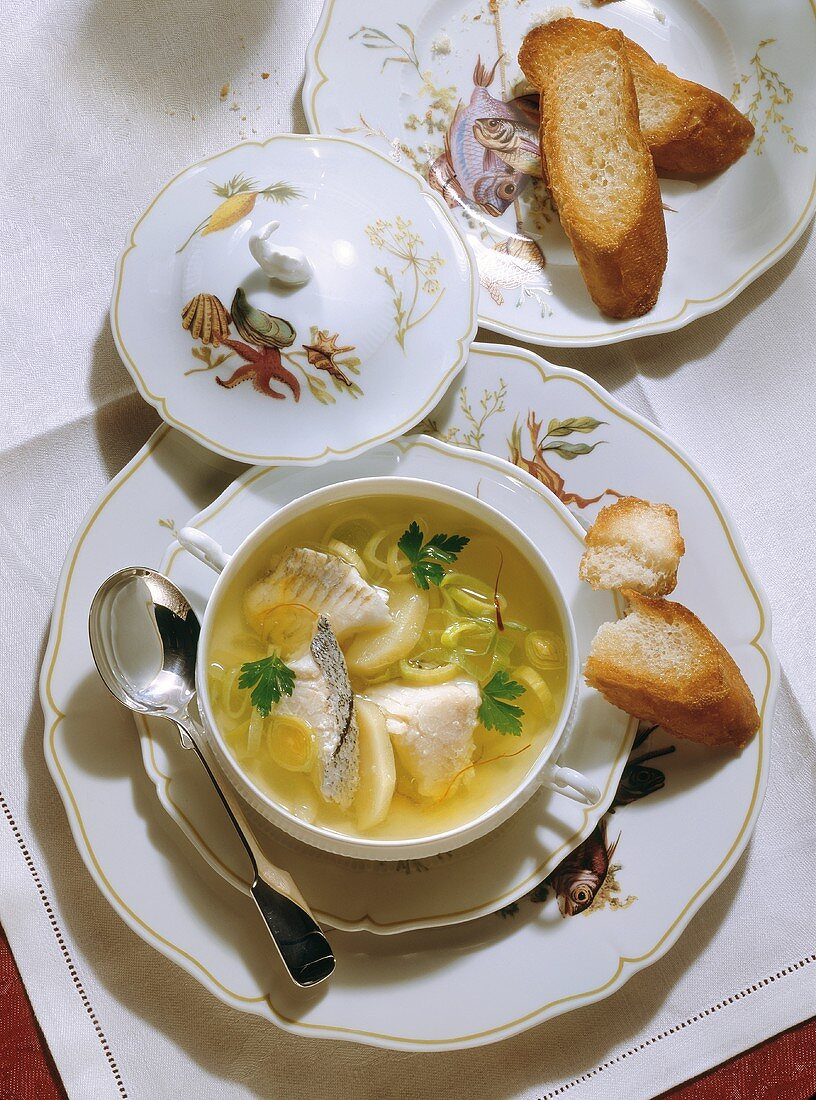 Fish Soup with Fish from the North Sea