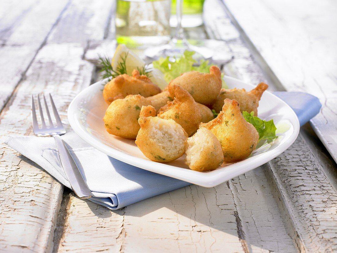 Bunuelos de Bacalao (fried dumplings with cod, Latin America)