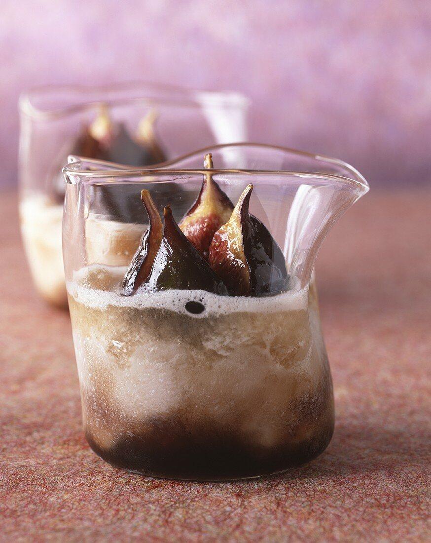 Fig cream with fresh figs