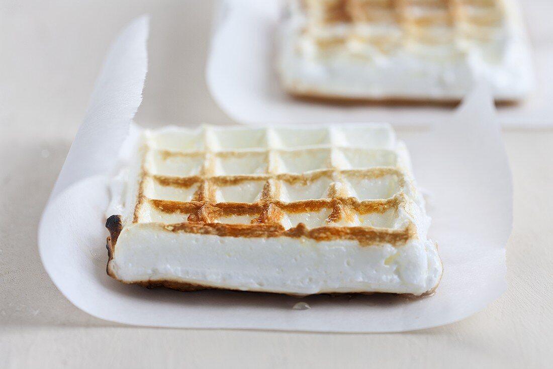 Meringue waffles