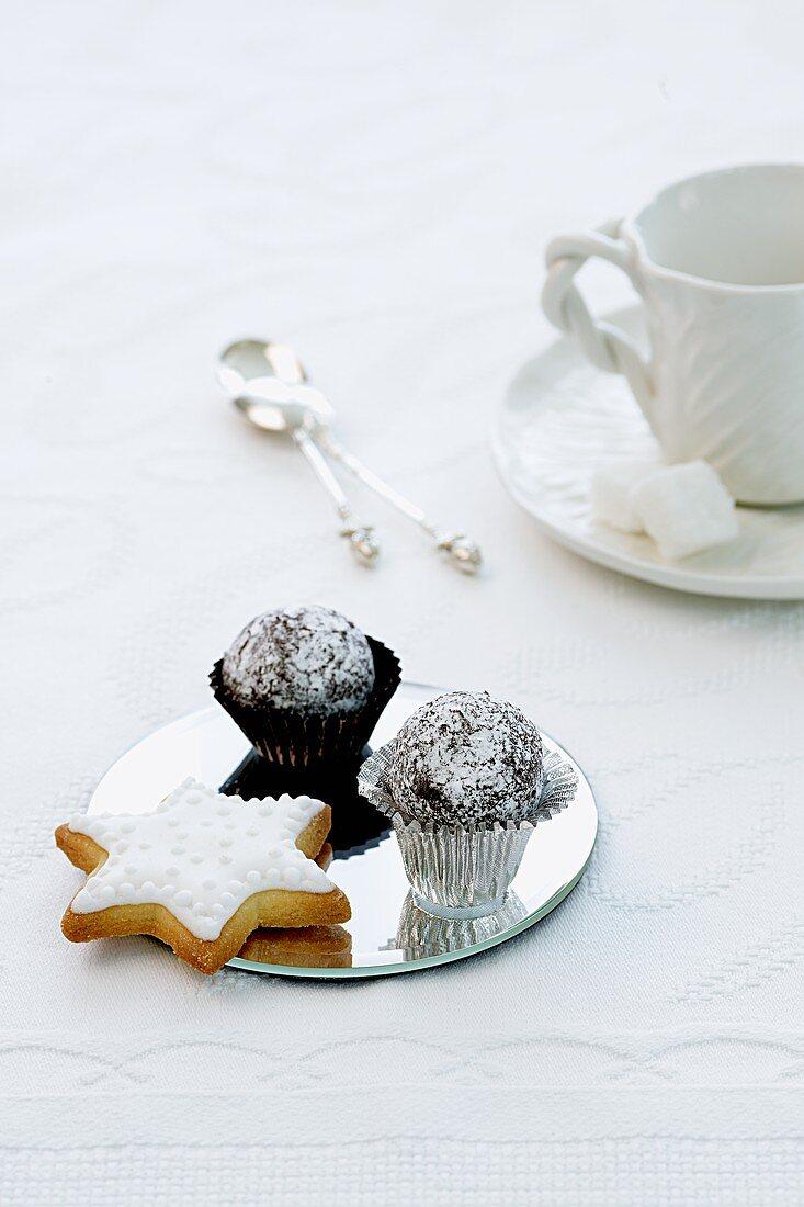 Shortbread stars and chocolate truffles