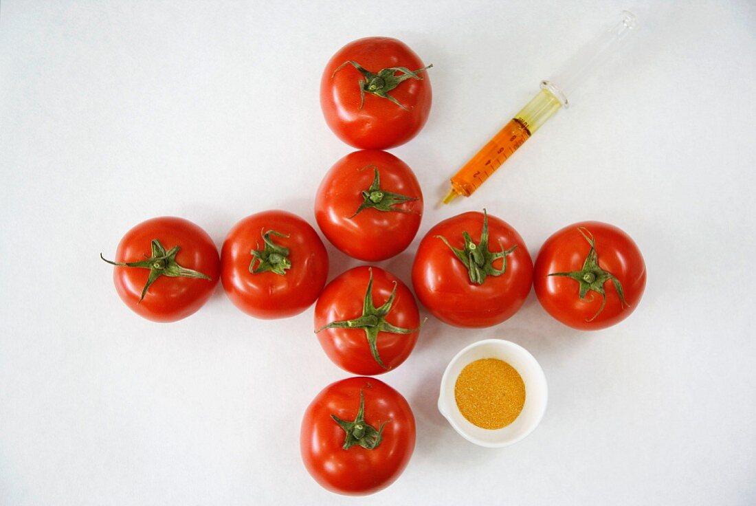 Functional biomolecules in food extraction, Tomatoe extract, Euskadi, Spain